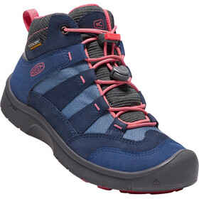 """Keen Youth Hikeport Waterproof Mid Shoes Dress Blues/Sugar Coral"""